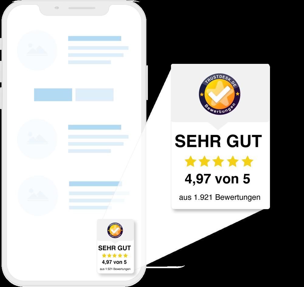 Kundenbewertungen Trustdesk